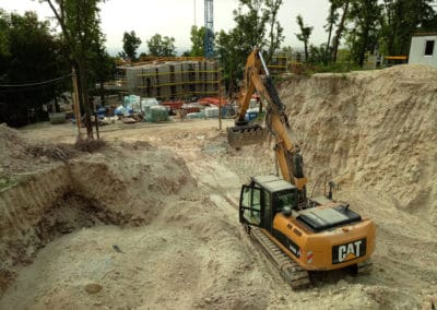 gépi földmunka, ágyazatépítés, tereprendezés